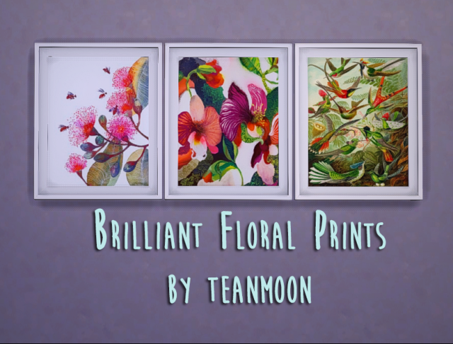 BRILLIANT FLORAL PRINTS BY TEANMOON