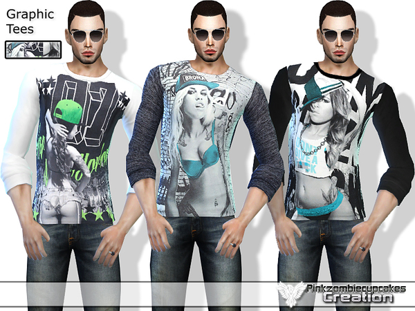 PZC_Graphic Tees Set 01 by Pinkzombiecupcakes