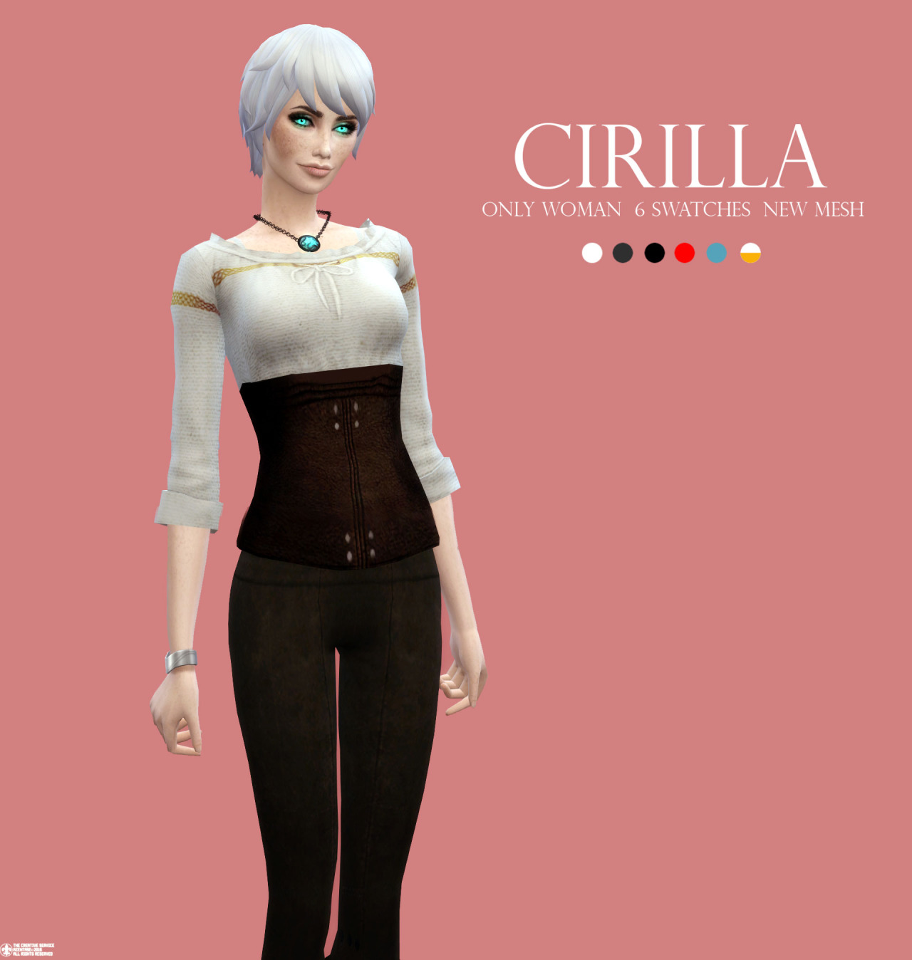 Cirilla Top in 6 Colors for Females by Azentase