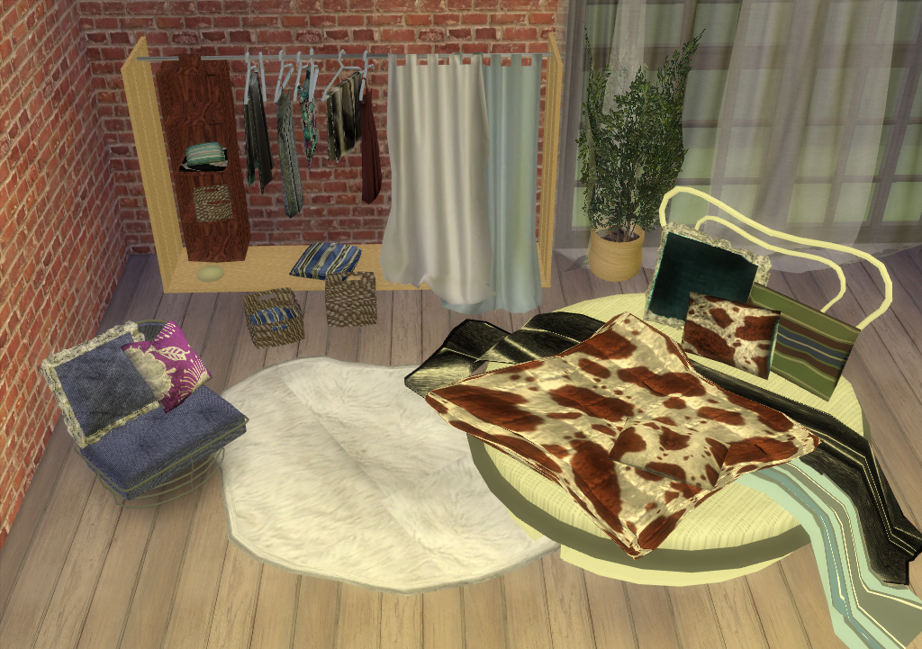 TS2 SIP Round Bedroom Set Conversion by EnureSims