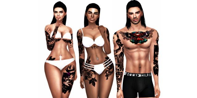 Fresh Faces.12 ( New Tattoos + Optional Base Sims ) by streetxsims