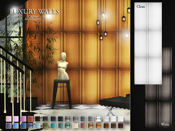 Luxury Walls by Pralinesims