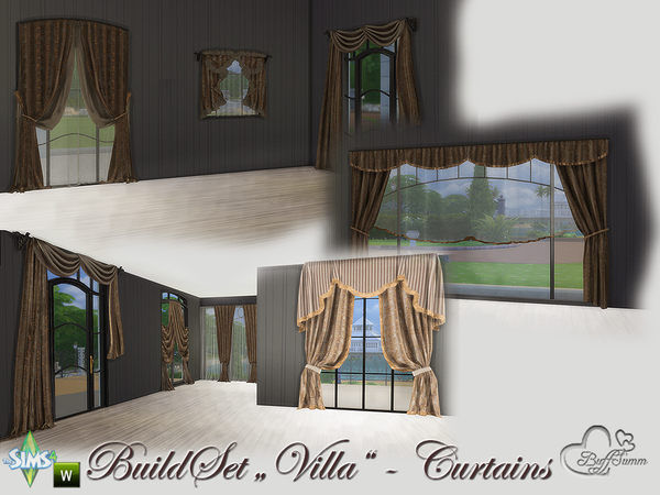 Build-A-Villa Curtains by BuffSumm