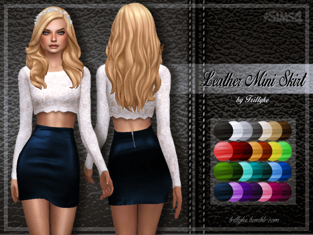 Leather Mini Skirt by trillyke