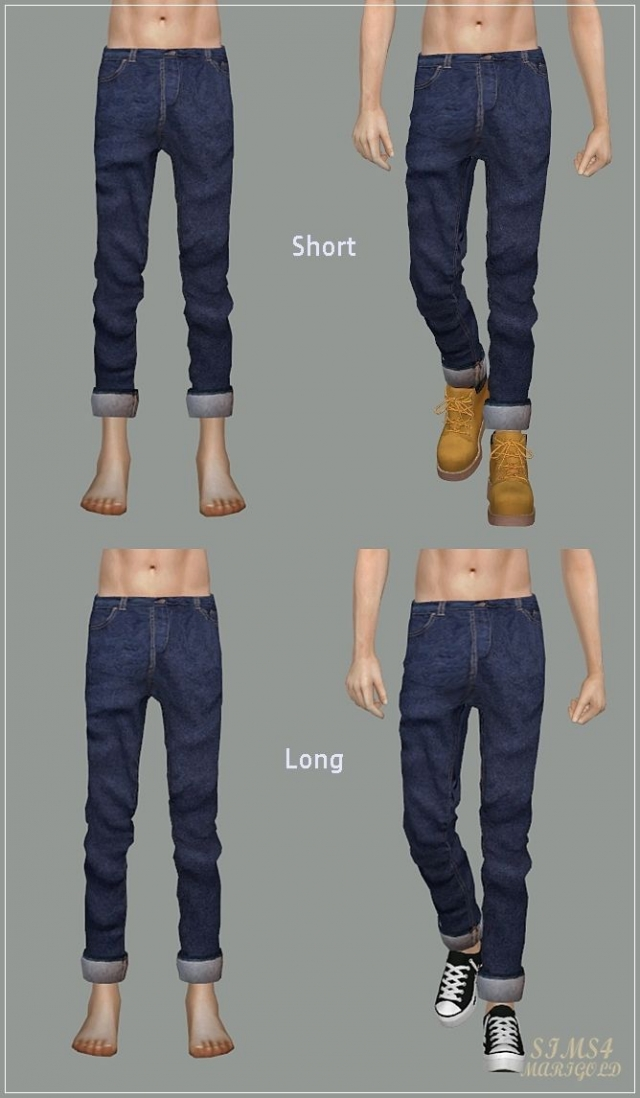 Male_Roll-Up Jeans by marigold