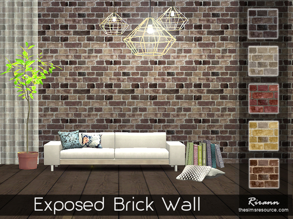 Exposed Brick Wall by Rirann