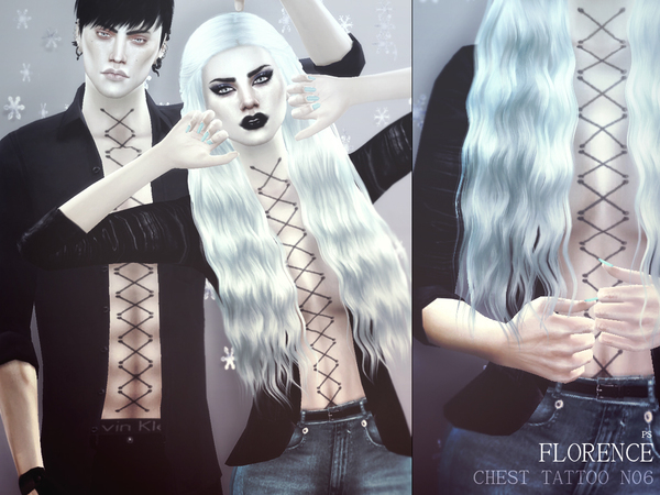 Florence Chest Tattoo N06 by Pralinesims