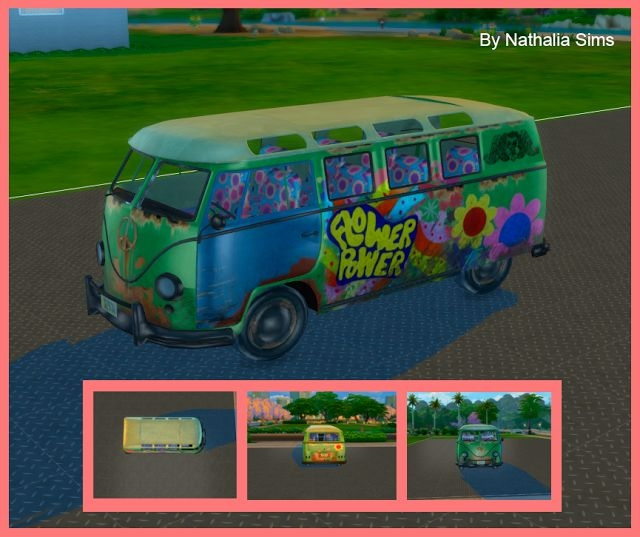VW Flower Power Van Kombi 70 by Nathalia Sims