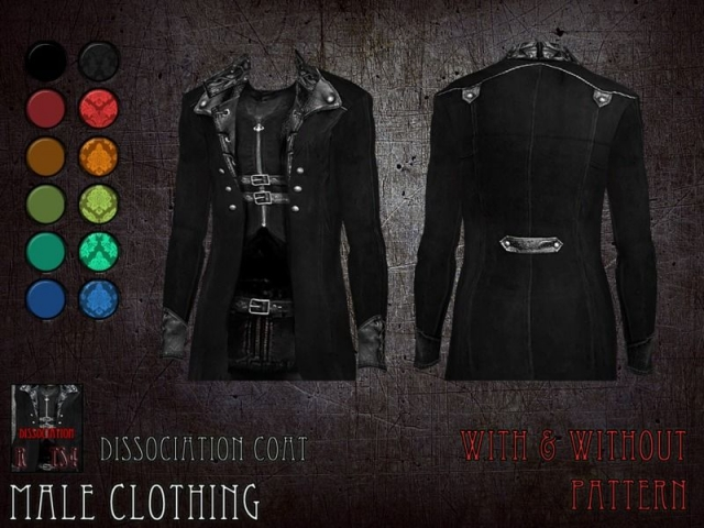 Dissociation coat - male clothing by RemusSirion