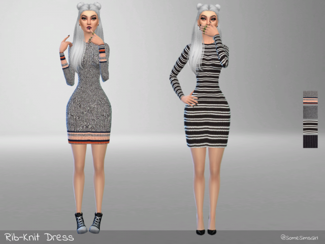 Rib-Knit Dress by somesimsgirl