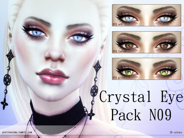 Crystal Eye Pack N09 by Pralinesims