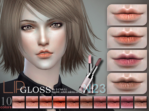 S-Club LL thesims4 Lipstick 23