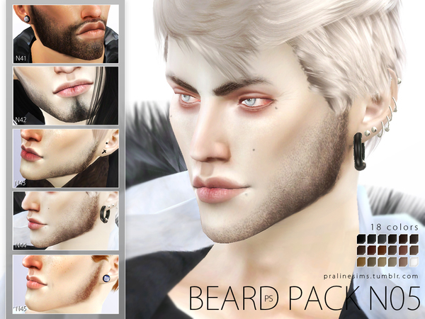 Beard Pack N05 by Pralinesims