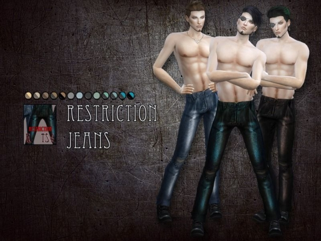 Restriction jeans - male clothing by RemusSirion