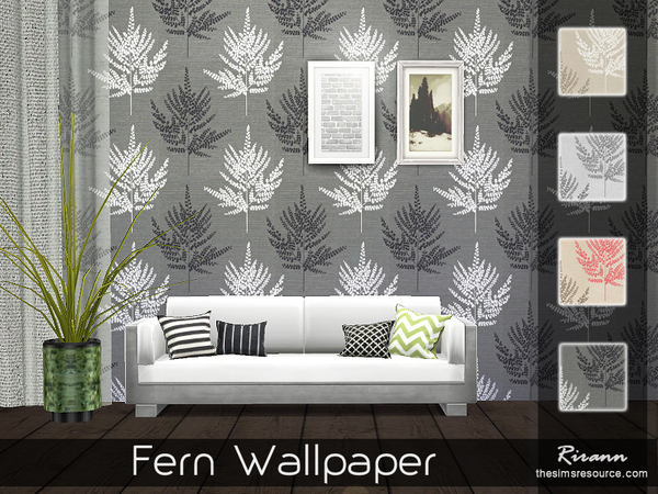 Fern Wallpaper by Rirann