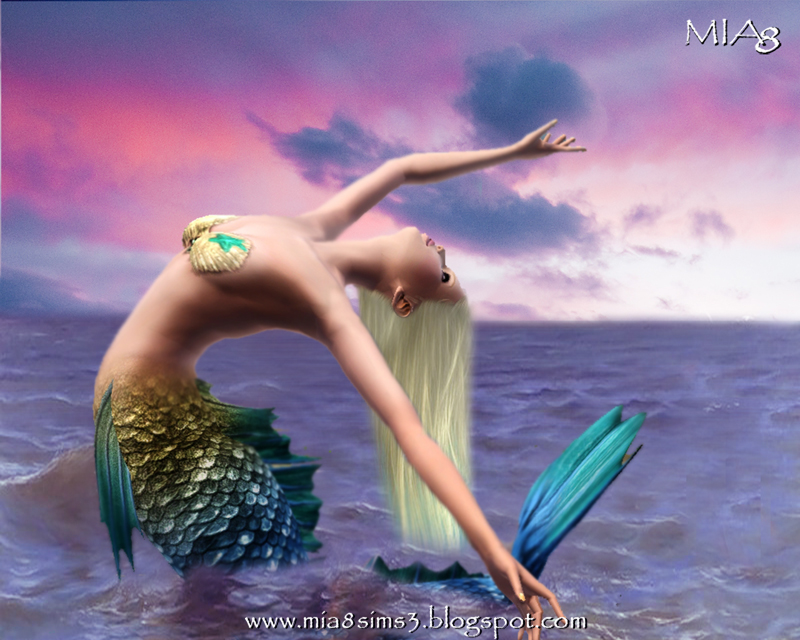 TS3 24 Poses Mermaid by Mia8