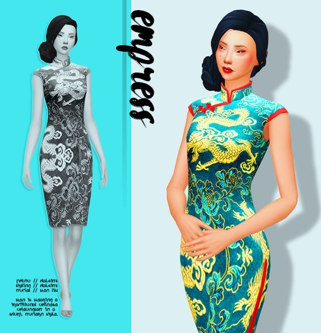 Empress Short Cheongsam by HabSims