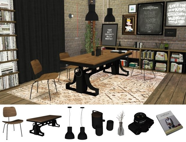 Vintage Industrial Dining by MXIMS