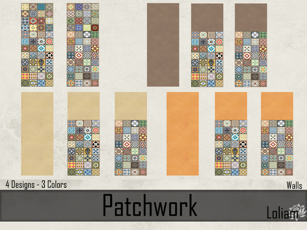 Set Patchwork Tiles by LoliamSims