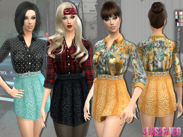 143 - Shirt outfit by sims2fanbg