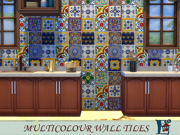multicolour wall tiles by evi