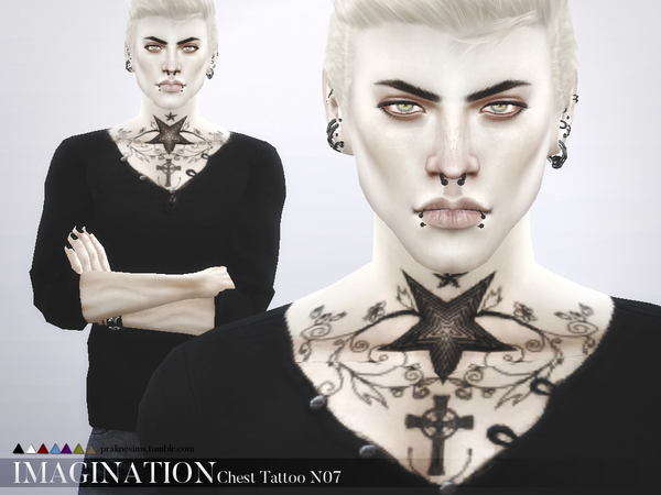 Imagination Chest Tattoo N07 by PralinesimsI