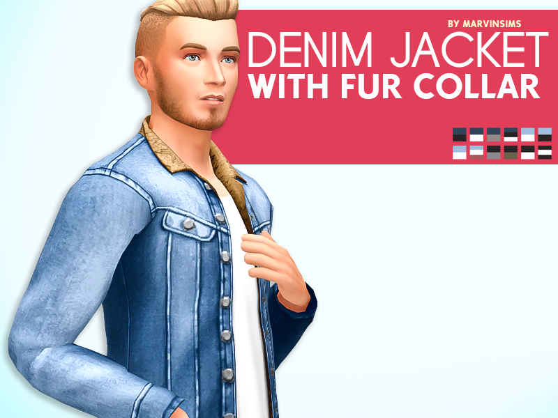 Denim Jackets with Fur Collar for Males by MarvinSims
