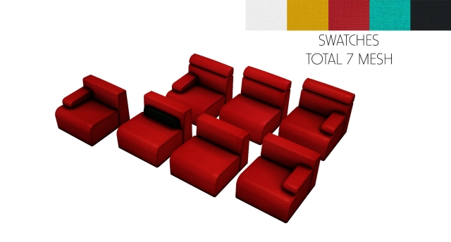 MODULAR SEATING by Leo-Sims