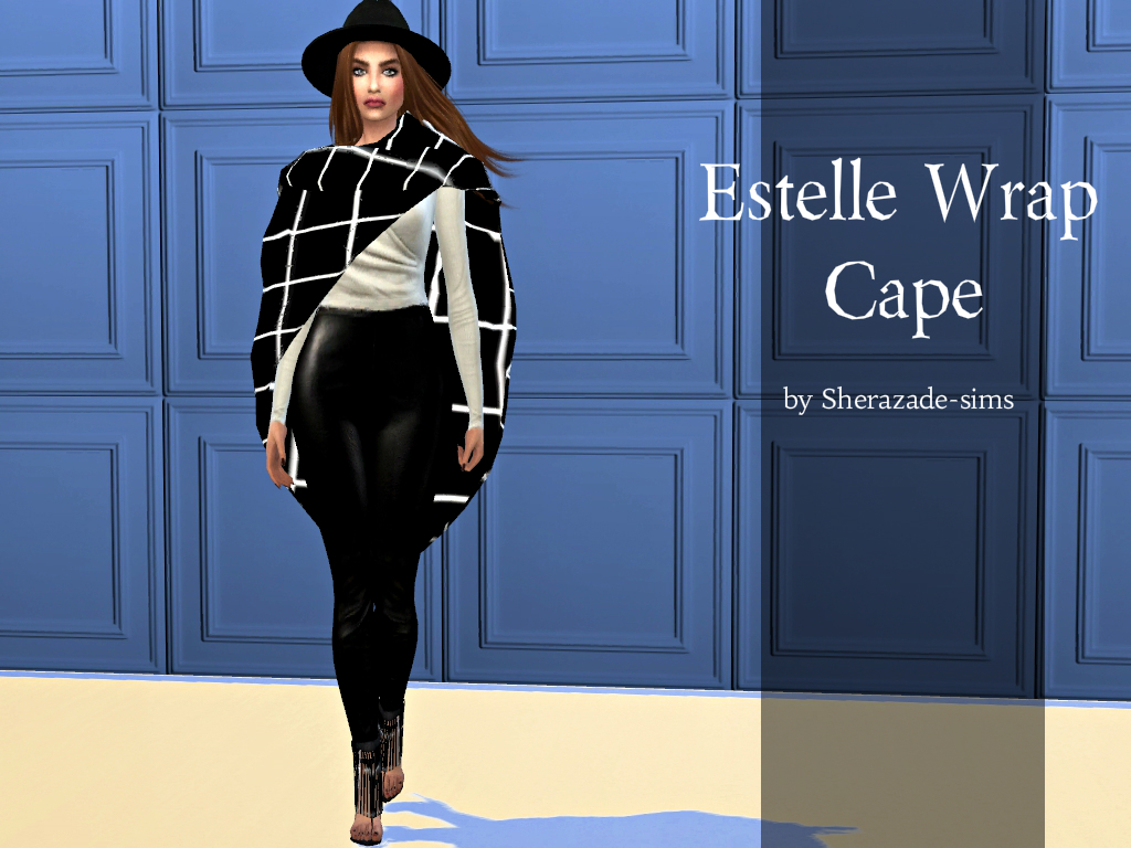 Estelle Wrap Cape for Females by SherazadeSims