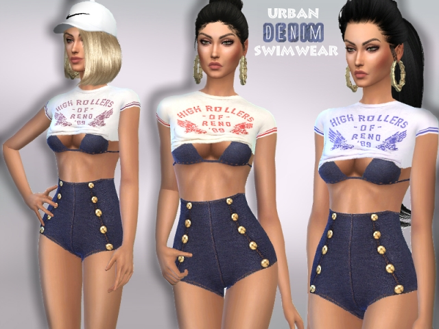 URBAN DENIM SWIMWEAR by Puresim
