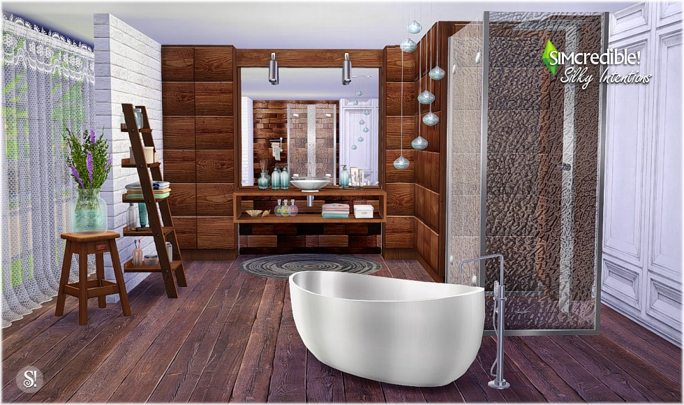 Silky Intentions Bathroom by Simcredible Designs