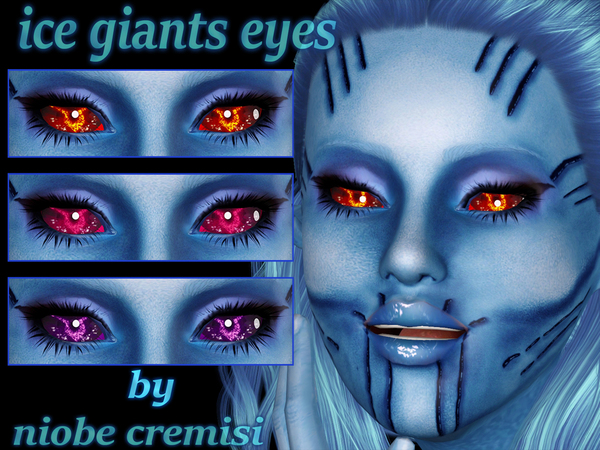 Ice giants eyes by niobe cremisi