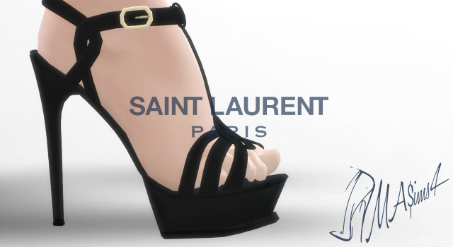 Saint Laurent Tribute Sandals by MrAntonieddu