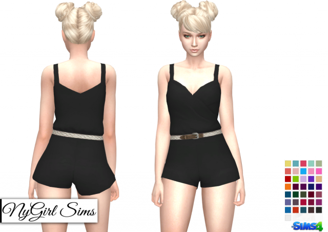 Braided Belt Romper by NyGirl