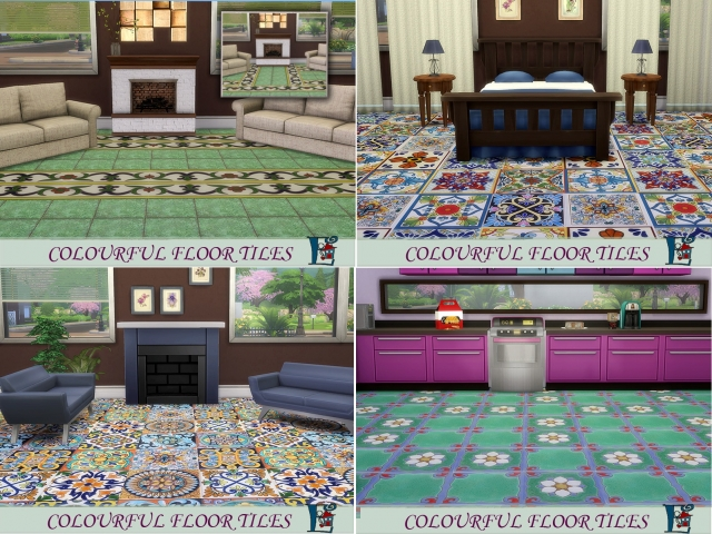 Colourful floor tiles by evi