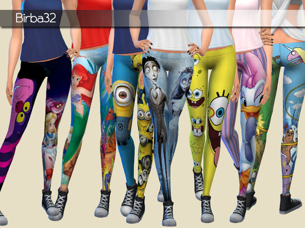 Cartoons Leggings by Birba32