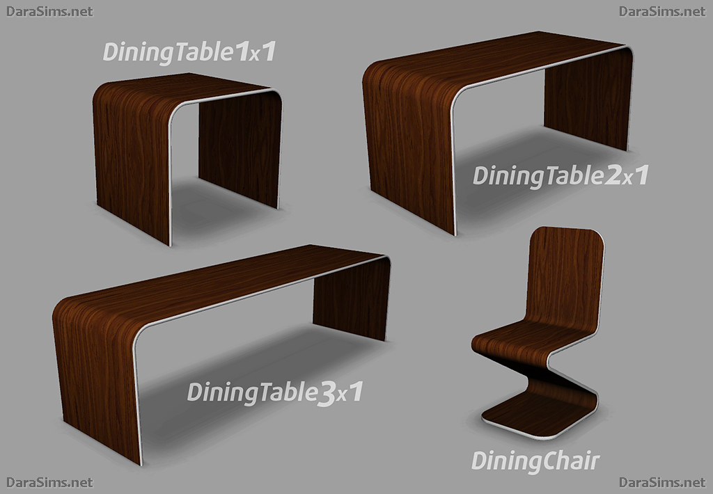 Modern Dining Set by Dara