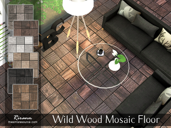 Wild Wood Mosaic Floor by Rirann