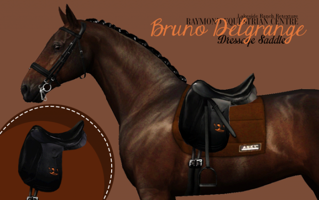 Bruno Delgrange dressage saddle by Raymond Equestrian Centre