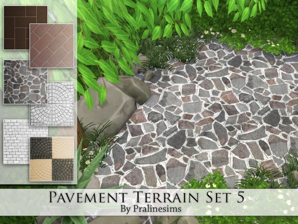 Pavement Terrain Set 5 by Pralinesims