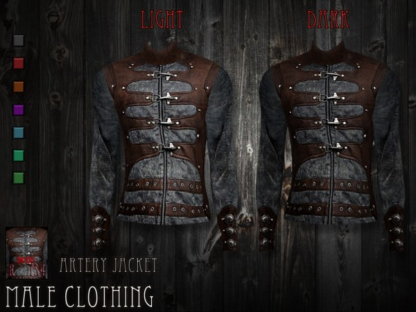 Artery jacket - male clothing by RemusSirion