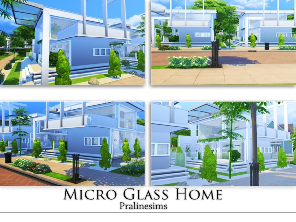 Micro Glass Home by Pralinesims