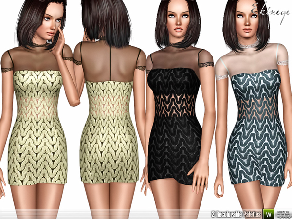 Wavy Guipure Lace Dress by ekinege