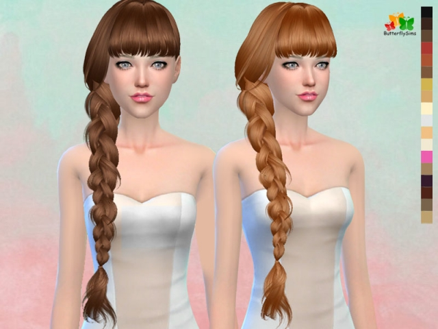 Hairstyle 166-NO hat by Butterflysims