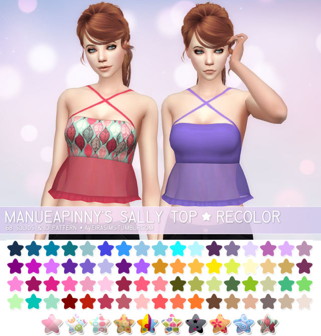 Manueapinnys Sally Top - Recolors by Aveira