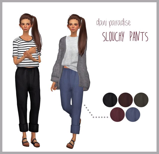 Slouchy Pants for Females by DaniParadise