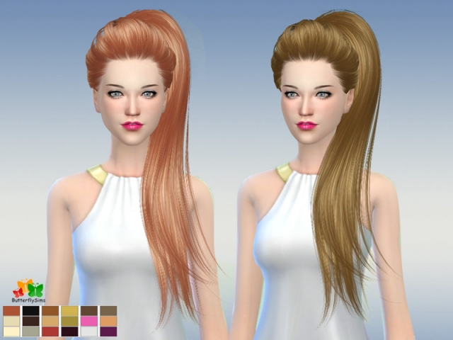 Hairstyle 169-NO hat by Butterflysims