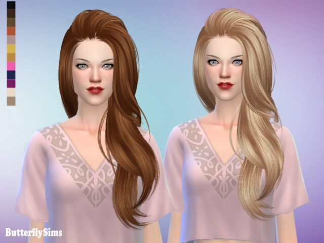 Hairstyle 170Ki-No hat by Butterflysims