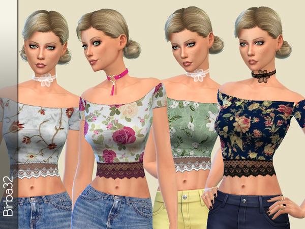 Textured Lace Top by Birba32