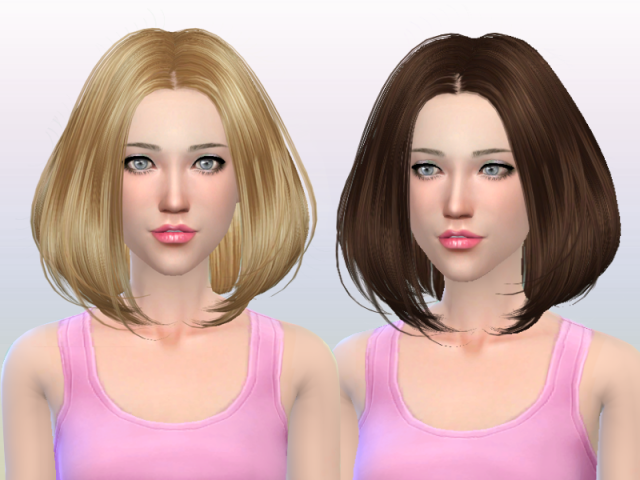 Hairstyle 167-NO hat by Butterflysims